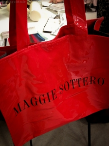 Mag Swag! They handed out these same red bags last season, but I love my old one  and it's getting a bit worn, so I couldn't resist grabbing another!