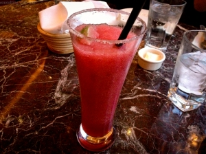 And I had to try the pomegranate margarita. (Contrary to what this blog may imply, I am not an alcoholic.)