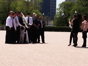 I told you, I wasn't lying when I said I'm the creepy girl who stalks other people's weddings. (Personal photo.)