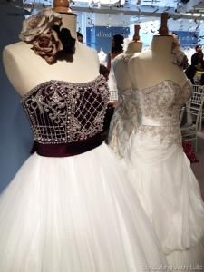 The gowns displayed outside the Alfred Angelo booth made me stop dead in my tracks.